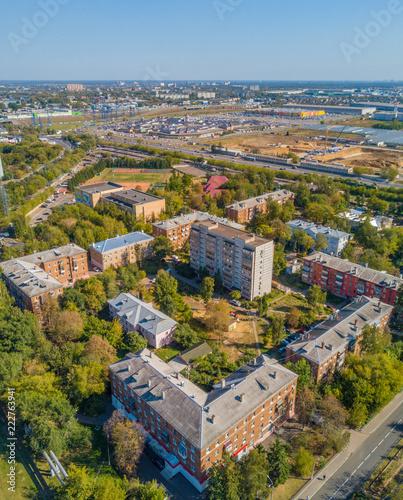 Fototapeta Kotelniki at Moscow Region, Russia / Drone view obraz na płótnie