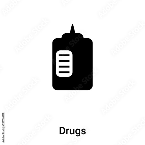 drugs icon vector isolated on white background logo concept of drugs sign on transparent background black filled symbol buy this stock vector and explore similar vectors at adobe stock adobe stock fotolia com