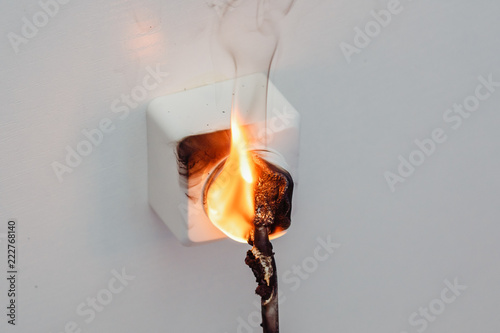 Awe Inspiring Fire And Smoke In Electrical Outlet Short Circuit House Wiring Wiring Digital Resources Anistprontobusorg