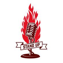 Stand Up Show Emblem Template....