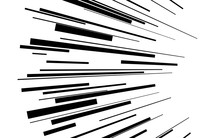 Speed Lines Vector Texture Comic Speed Lines Background Black Elements On White Background