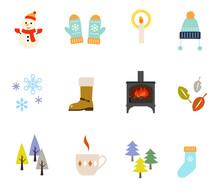 冬のイラスト セット