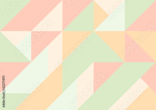 Abstract, modern, cubist background with pastel colors. Canvas Print