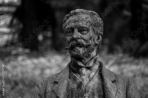 The statue of Heinrich Kaspar von Mattoni Tableau sur Toile