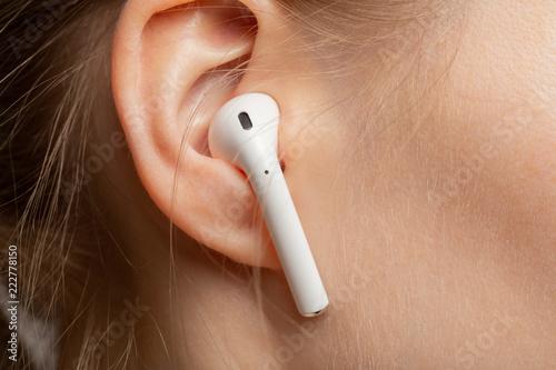 ear with earphone