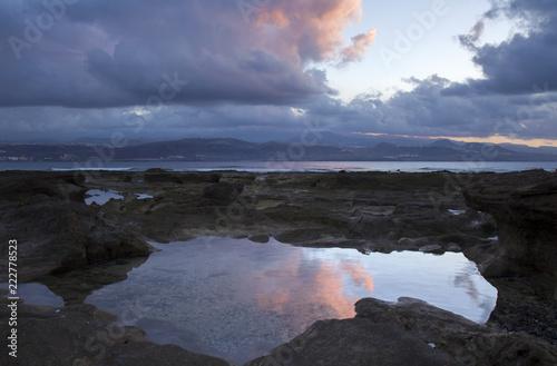 Tuinposter Canarische Eilanden sunset at El Confital