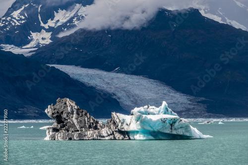 Fotografia, Obraz  Icebergs near Columbia glacier under the clouds