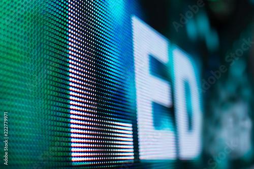 Valokuva  Bright colored light LED smd screen