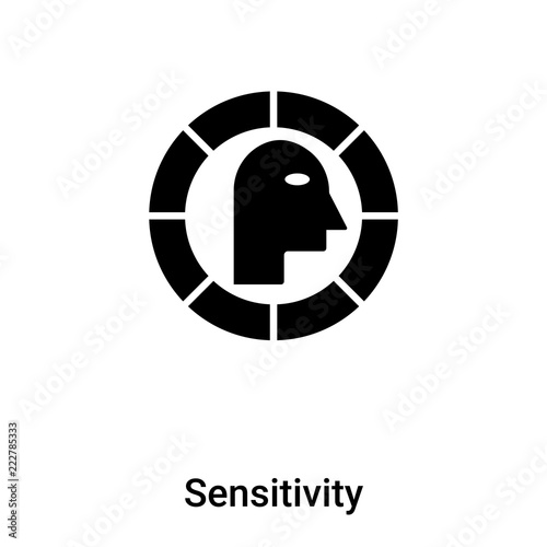 Fotografia  Sensitivity icon vector isolated on white background, logo concept of Sensitivit