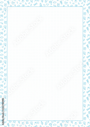 graphic relating to Printable Dotted Paper identified as Vector Blue Dotted Grid Graph Paper A4, Printable, dots
