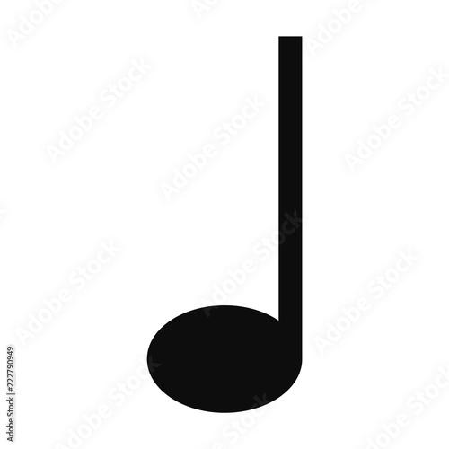 Fotografía  Quarter music note icon