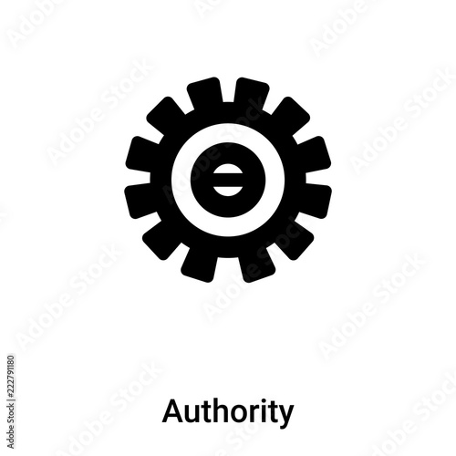Fotografía  Authority icon vector isolated on white background, logo concept of Authority si