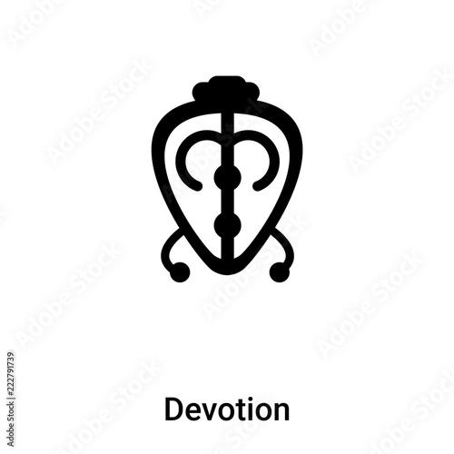 Fotografia  Devotion icon vector isolated on white background, logo concept of Devotion sign