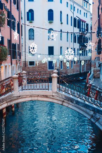 Fototapety, obrazy: Gondolas on lateral narrow Canal, Venice, Italy.
