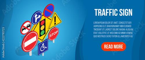 Obraz na płótnie Traffic sign concept banner
