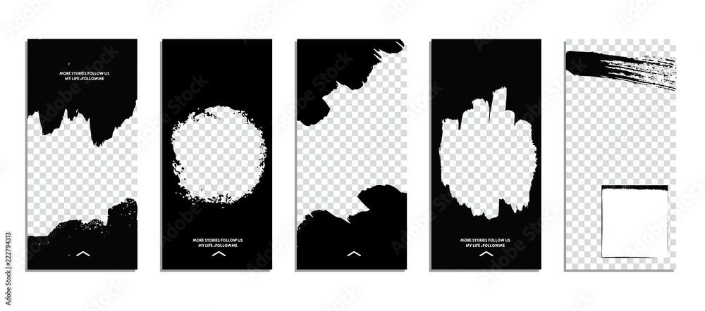 Fototapety, obrazy: Editable Stories template