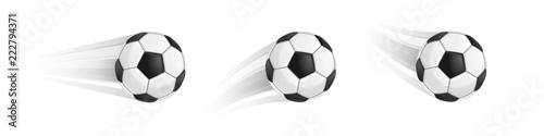 Obraz Soccer ball in motion - fototapety do salonu