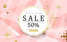 Abstract Sale Colorful Banner Backgrounds