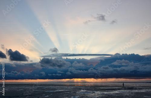 Spoed Foto op Canvas Noordzee Sonnenuntergang an der Nordsee