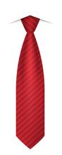 Red Tie Icon. Realistic Illust...