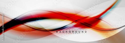 Obraz Smooth flowing wave motion concept background - fototapety do salonu