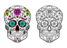 Sugar Skull Coloring Page, And...