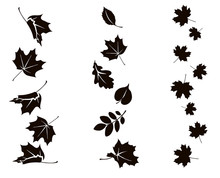 Autumn Falling Leaves. Vector ...