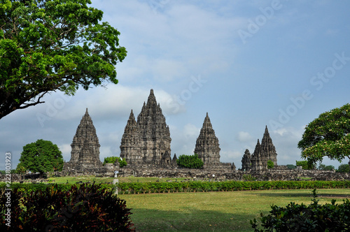 Spoed Foto op Canvas Bedehuis Prambanan temple on Java