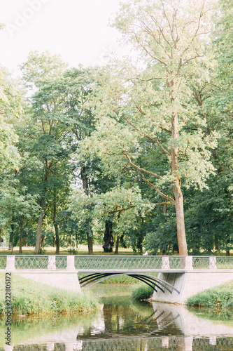 Parks Without People In St Petersburg Summer Landscapes And Trees Bridges And Lake Old Park Environmentally Friendly And Clean Among The City Buy This Stock Photo And Explore Similar Images At