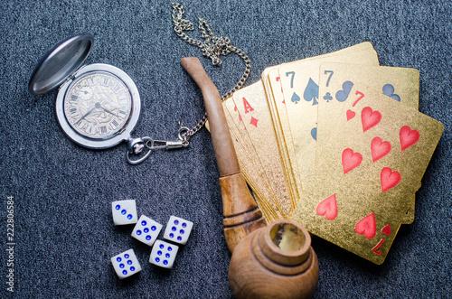 фотография  money, playing cards bone
