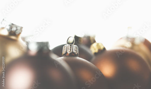 Braune Christbaumkugeln.Braune Goldene Und Helle Christbaumkugeln Eine Schone