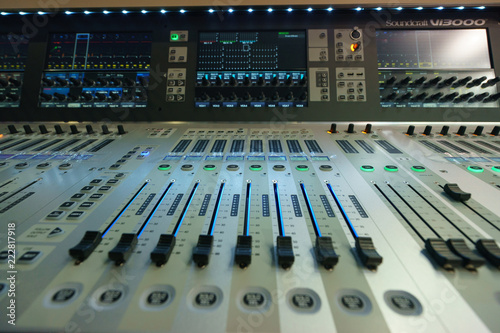 Fotografie, Obraz  Macro image of the mixing desk