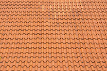 The Roof Texture With Red Tiles