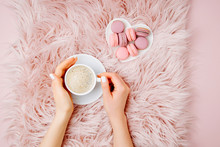 Female Hands Holding A Cup Of ...