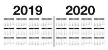 Calendar 2019 And 2020 Templat...