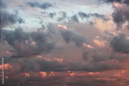 Obraz red cloudscape dawn sky - fototapety do salonu
