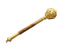 Ancient Gold Mace Isolated