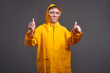 Man In Yellow Raincoat