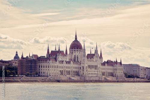 Foto op Canvas Boedapest Historic Parliament Building Budapest
