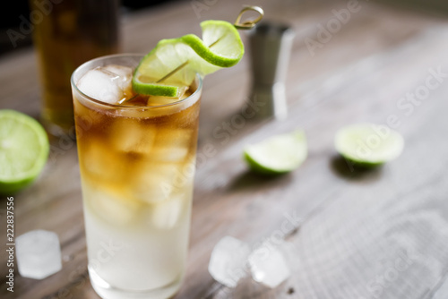 Foto op Canvas Cocktail Dark and Stormy Rum Cocktail