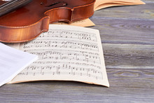 Sheets Of Musical Notes And Vi...