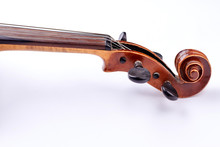 Scroll Of The Violin On White ...