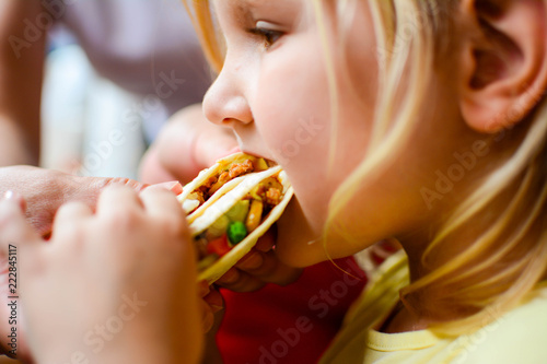 Photo children, diet, culinary and food concept
