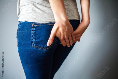Photo Girl with an intestinal disorder