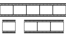 Film Strip Set. Vector Illustration