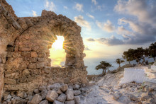 Sunset At Monolithos Castle, R...