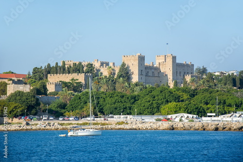 Foto  Rhodes fortress, Dodecanese islands, Greece