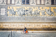 Fürstenzug ( Procession Of Princes), Mural At The City Of Dresden (Germany)