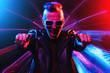 canvas print picture - colorful disco night