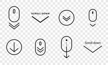 Scroll Down Icon. Vector Scrol...
